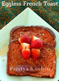 Eggless French Toast Recipe #veganthanksgiving