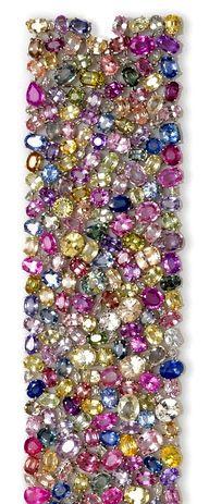A multi-color sapphire and diamond bracelet ..