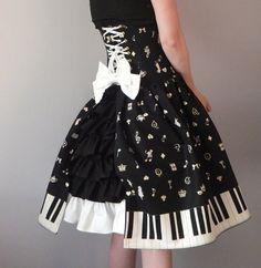 Alice Gothic Lolita Corset Dress- underbust corset dress, steel boned, custom made by Corset Wonderland