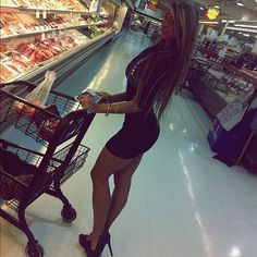 Stop at grocery store on way to strip club! WTF? You're grocery shopping!