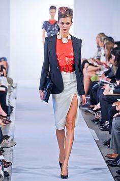 fashion weeks, runway fashion, la renta, cloth, renta spring, chic style, new york fashion, 2013 runway, oscar de