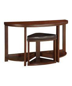 This Warm Cherry Brown Stool & Sofa Table Set by HomeBelle is perfect! #zulilyfinds