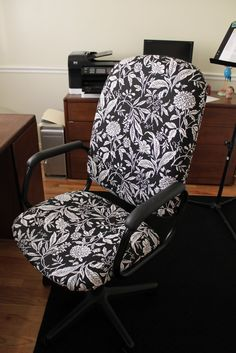 do it yourself divas: DIY: Reupholster That Ugly Office Chair