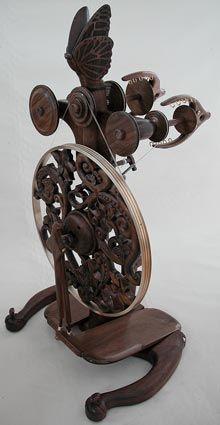 ~ Golding Triple-Flyer Spinning Wheel ~  Máquina de hilado de tres ruedas