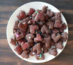 Chocolate Covered Banana Hearts - Valentine's treat for preschool!