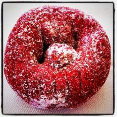 cake, blood red, donut maker, velvet donut, red velvet