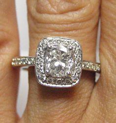 vintage cushion cut engagement ring....GORGEOUS!!!!