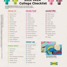 College apartment checklist