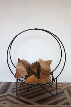 Vintage Iron Firewood Holder.