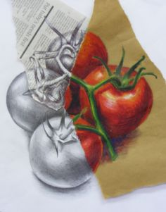 My demo - demonstrating different media on different paper - personal creative response