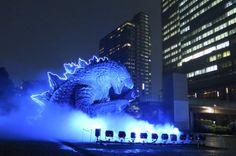 Tokyo's Giant Godzilla Statue Looks Amazing in the Rain
