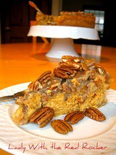 ~LadyWithTheRedRocker~ Pumpkin Pecan Cheesecake.  Absolutely the best EVER cheesecake!!!! #pumpkincheesecake #cheesecake
