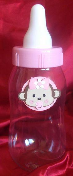 Monkey Baby Shower Centerpiece Bottle