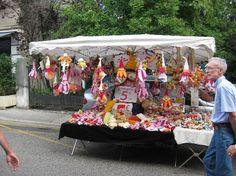 Sunday market in Divonne Les Bains