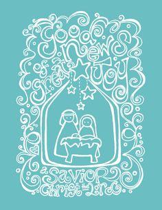 Free Printable Christmas Nativity Art