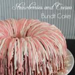 Strawberries and Cream Bundt Cake using JELL-O bundt cakes, strawberri recip
