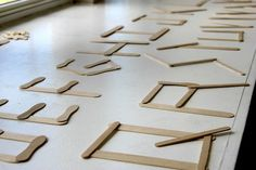 Popsicle stick letters - great for daily 5 word work