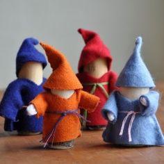 Branch Family Gnome Dolls