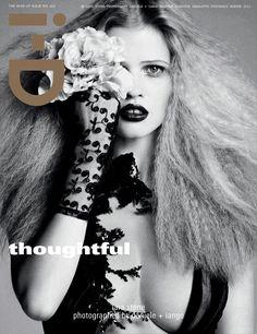 'Thoughtful', Lara Stone at i-D Magazine #322.