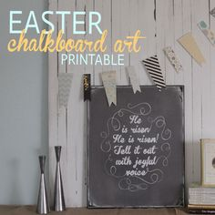 it's always autumn - itsalwaysautumn - Easter chalkboard art printable