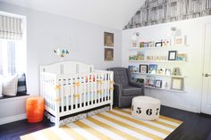 Gray and Yellow Library-Themed Nursery - Project Nursery