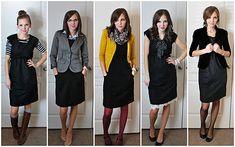 A little black dress 5 ways. Love!!