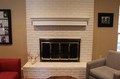 mantl makeov, fireplace screens, tacky fireplace