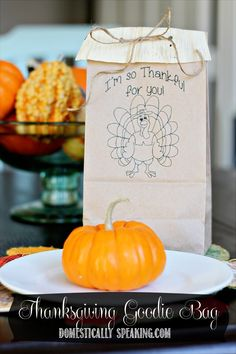 Thanksgiving Goodie Bag Printable FREE ~ perfect for the kiddos on Thanksgiving.  Fill with treats or crayons and coloring sheets