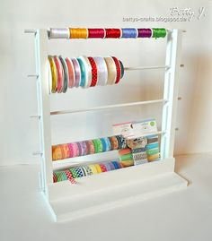 DIY ribbon and washi tape storage