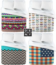 Loving these cool and colorful duvet covers!
