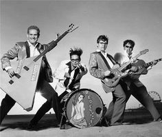 """You may recognize the """"Red Elvises"""" from their bad guy roles in the movie Six String Samurai"""