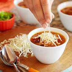 Chicken Tortilla Soup: A flavorful version of the classic tortilla soup, with garbanzo beans adding extra texture and protein.
