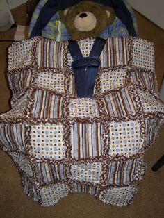 Ragamuffin Car Seat Rag Quilt rag quilt, car seat