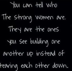 strong women: building one another up