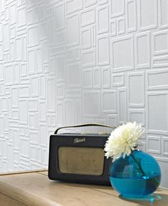Squares...paintable wallpaper