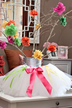 possible birthday centerpiece and could make extra tutus as party favors if I was super motivated
