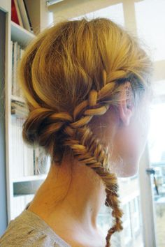 French Braids with Fishtail