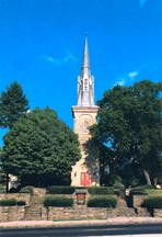 There are reports of a child ghost being spotted in the windows of Abington Presbyterian Church inAbington, PA. Reports claim that because the graveyard was moved across York Road and the church was built on the site of the former cemetery, a child spirit has been restless ever since. ghost stori, haunt church