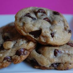 The best chewy chocolate chip cookies ever. Even better the next day.