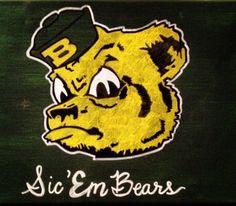 "Sailor Bear says, ""Sic 'em, Bears!"" // #SicEm #Baylor #SailorBear"