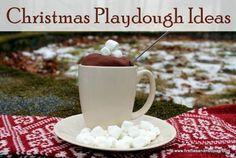 Christmas Playdough Ideas - Fireflies and Mud Pies