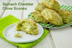 Spinach Cheddar Chive Scones on Weelicious
