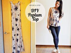 DIY:: 90′s Dress to Peplum Top