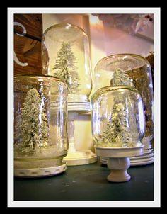 decor, holiday, craft, idea, snow globes