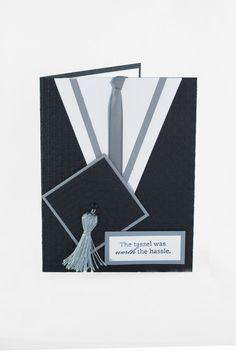 Cap & gown graduation card
