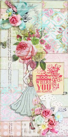 Bloom Where you go Canvas - Scrapbook.com