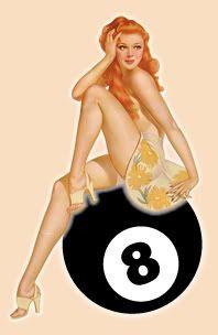 1940s pin, balls, pinup eightbal, perfect pin, 50s pin, pinup girl, hit girl, medium