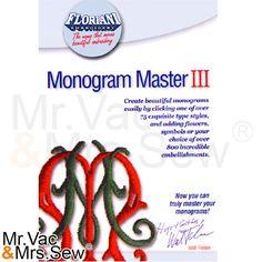 Floriani Monogram Master III Embroidery Software, Floriani Embroidery Software , Embroidery Machines