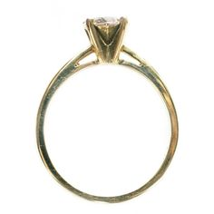 """Fake diamond ring, with sterling silver and gold """"stone"""" #fake #Diamond #Rings"""