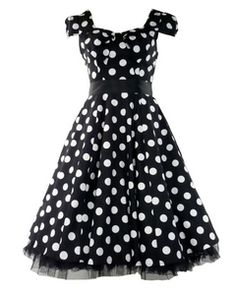50's Vintage Polka Dot Dress